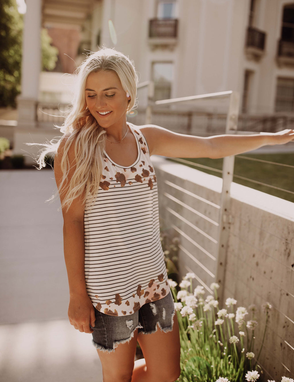 Fashionable Stripe Tank Top