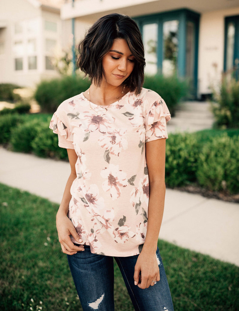 Forget Me Not Ruffle Top