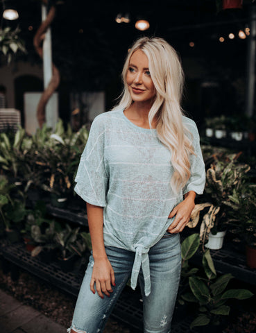 Don't Stand a Chance Stripe Top - Navy
