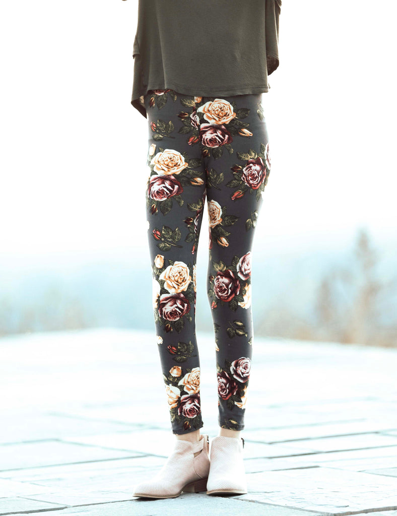 SA Exclusive Little Girl Floral Fling Leggings