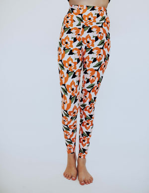 SA Exclusive Little Girl Peach Blossom Leggings