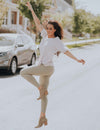 SA Exclusive Light Olive Solid Leggings