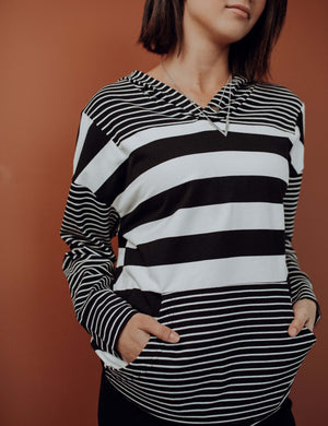 Major Moments Stripe Hoodie