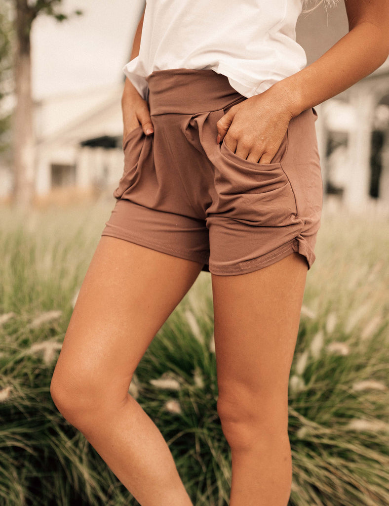 SA Exclusive Mocha Harem Shorts