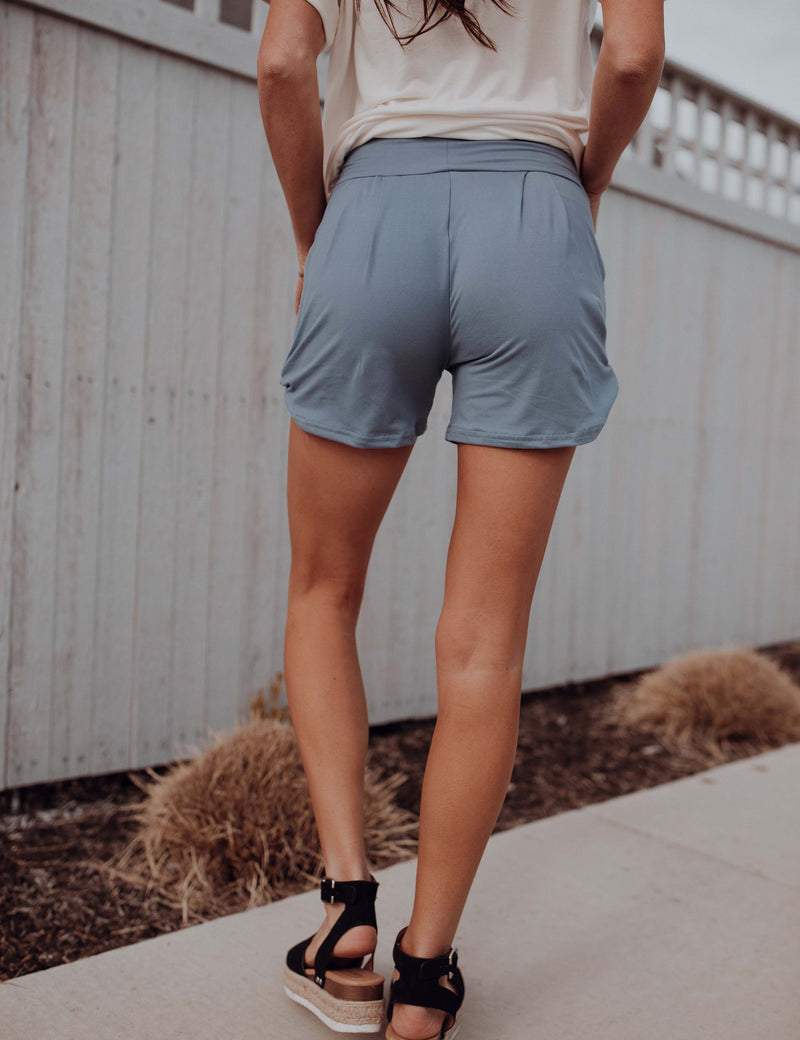 SA Exclusive Periwinkle Solid Harem Shorts
