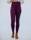 SA Exclusive Purple Solid Leggings