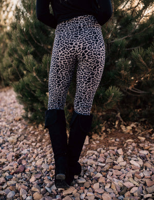 SA Exclusive Sassy Grey and Black Leopard Leggings
