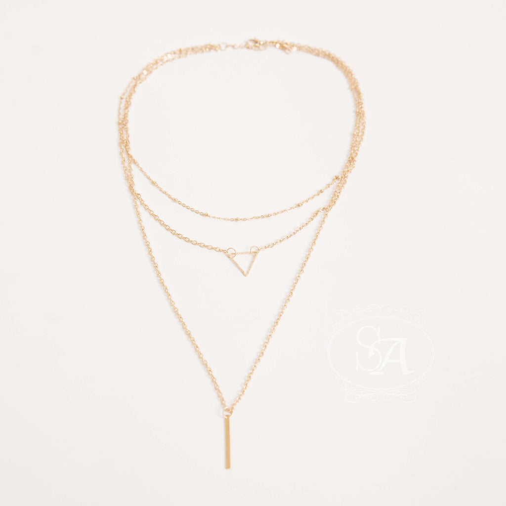 Tia Triangle and Bar Necklace