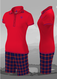 St Andrews - ladies red polo