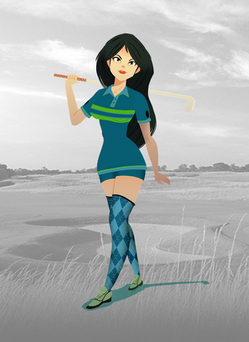 angkor golf resort - ladies retro blue
