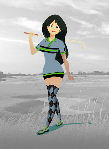 angkor golf resort - ladies retro grey