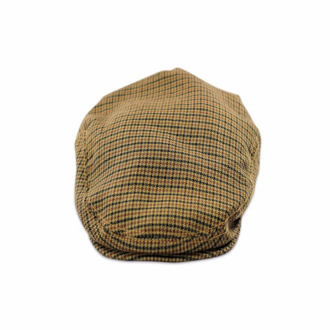 Flat cap in hounds tooth | brown plaid