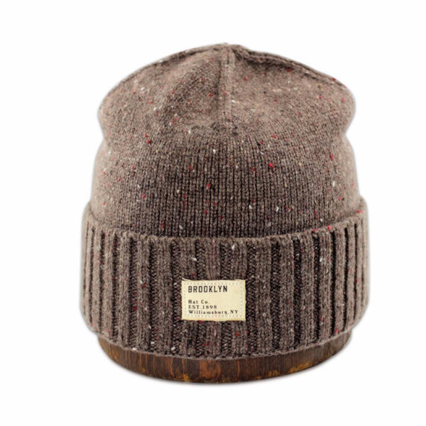 Mugs - Merino Wool Cuffed Beanie - Brown