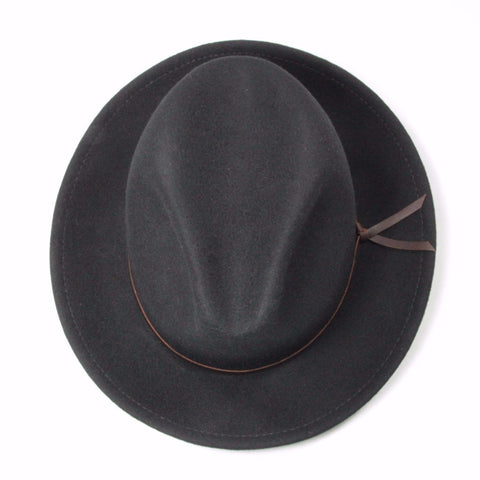 Luke Black Men's fedora birds eye view