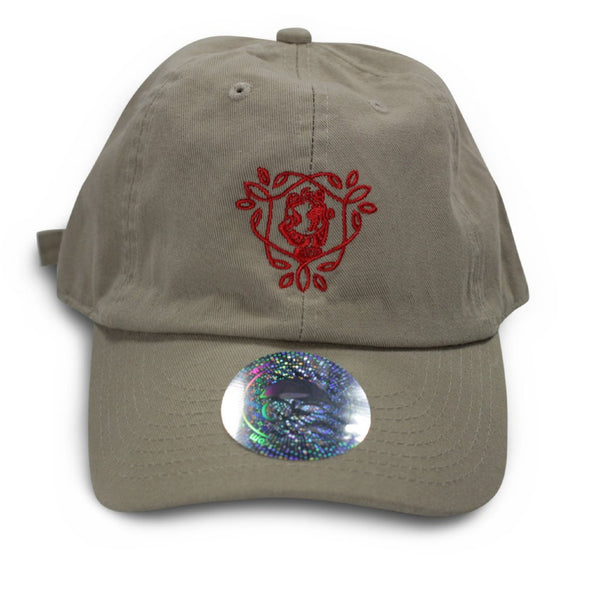 Dad hat - khaki/red