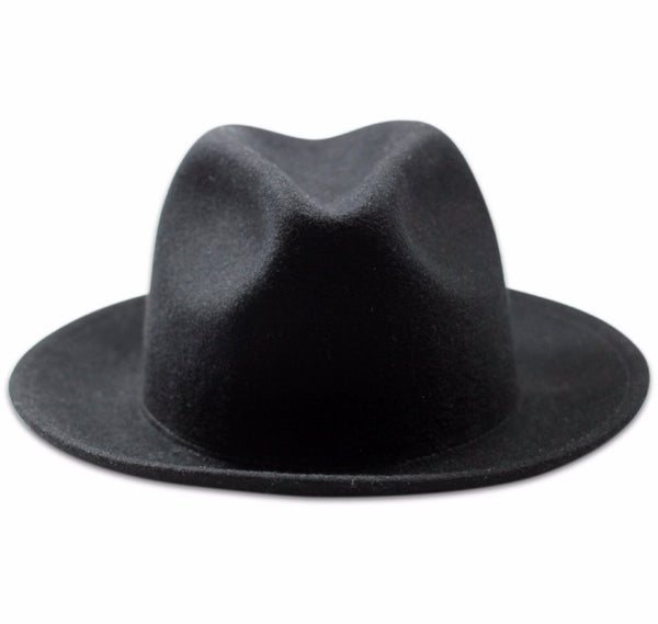Luke Black Men's fedora front view