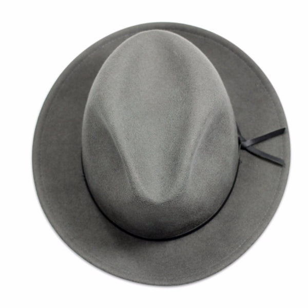 Luke Grey Men's fedora birds eye view