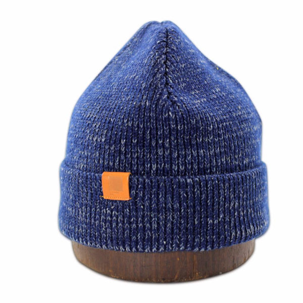 Mystery Beanie | Blue | Leather label