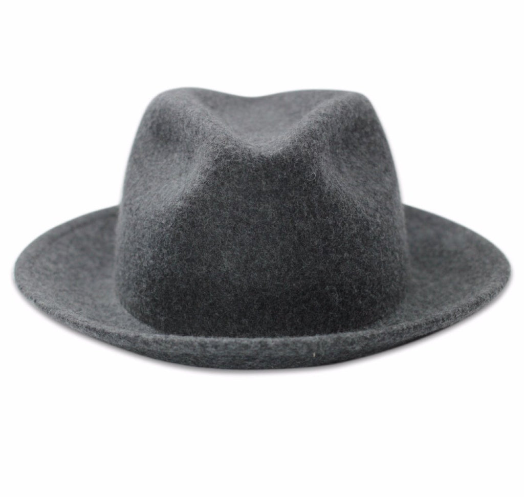 Luke EJ Grey Men's fedora front view
