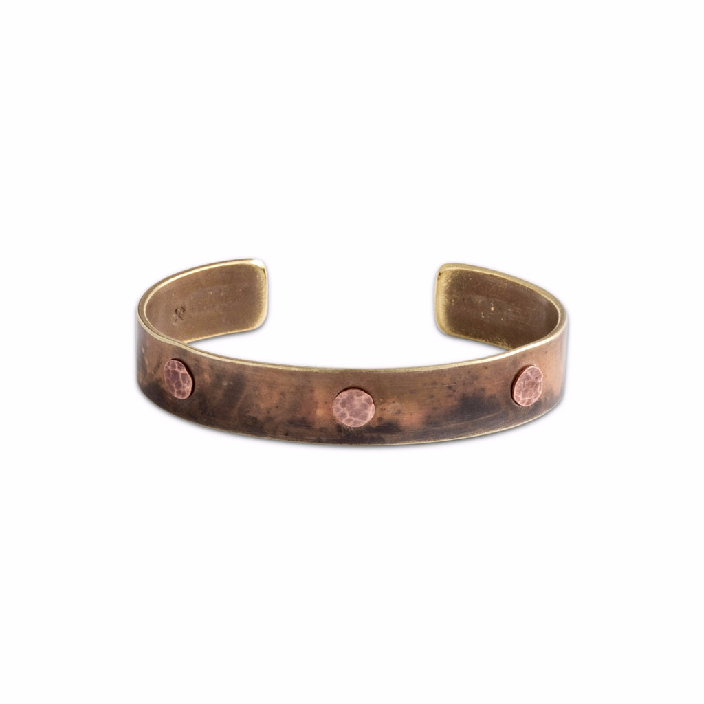 Mens brass/copper bracelet cuff