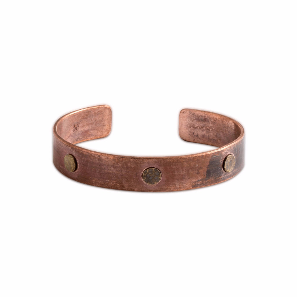 Mens copper/brass bracelet cuff