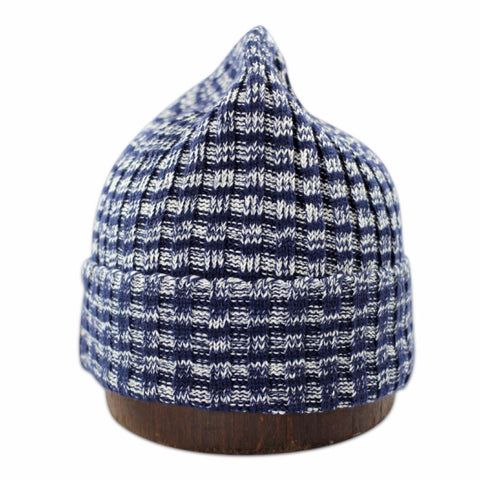 Unisex knit beanie - Navy Stripes