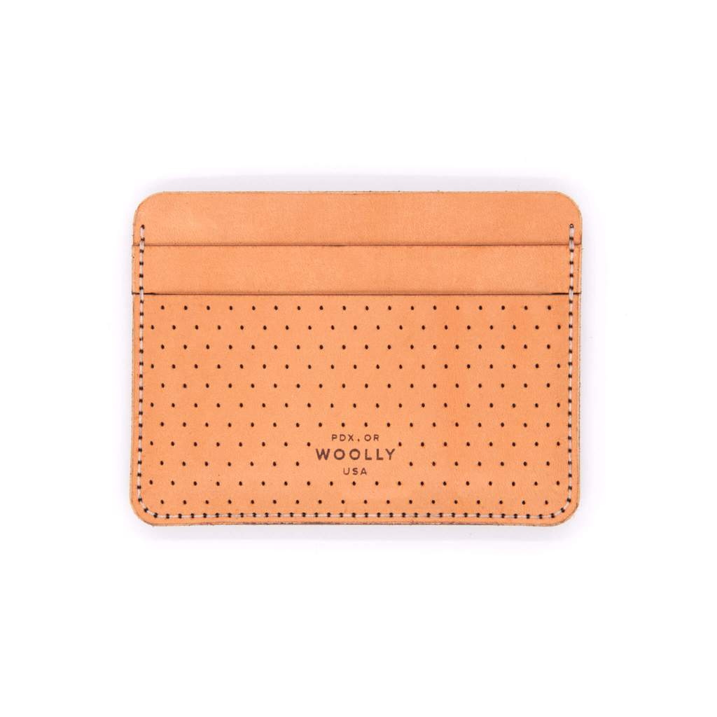 Woolly leather half wallet (Tan)
