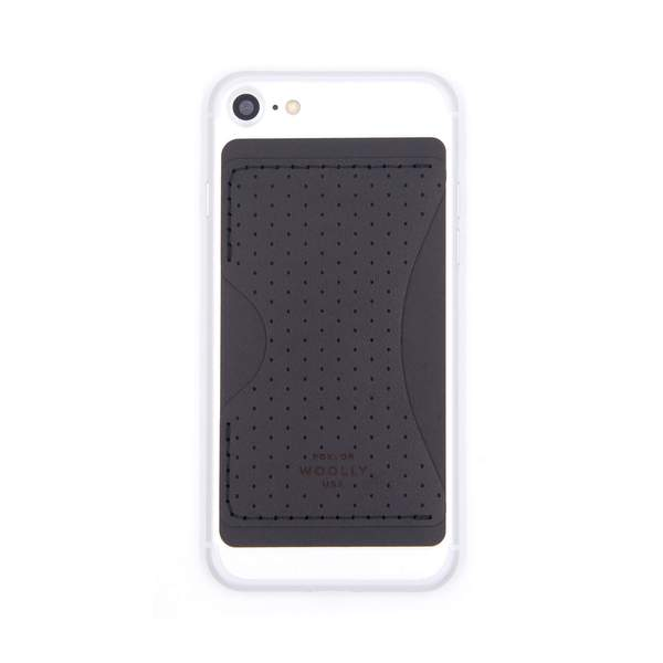 Stick-on Card wallet iphone shown in images (black)