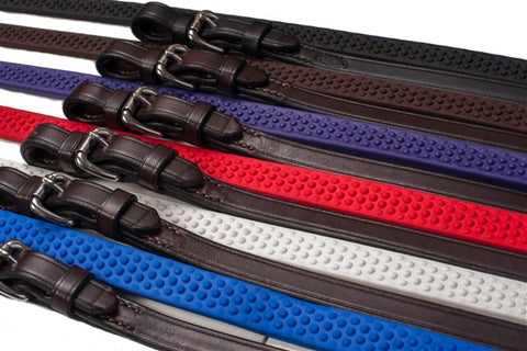 Soft Grip Rubber Reins  by Nunn Finer