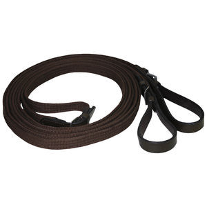 Draw Reins - Cotton Web with leather
