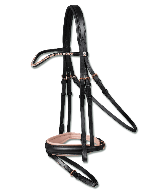 Waldhausen Rose' Snaffle Bridle (X Line) with Rose Gold Fittings