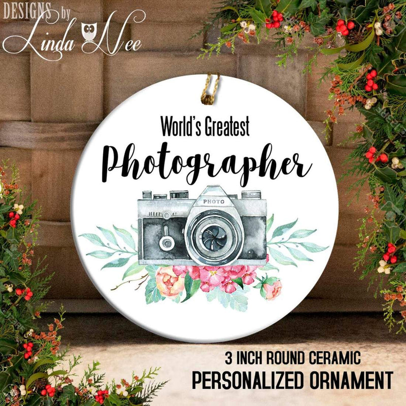 World's Greatest Photographer Dated Ornament