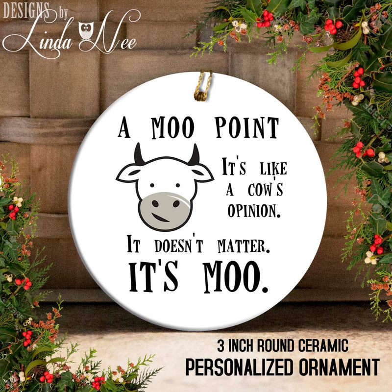 A Moo Point Friends  Ornament
