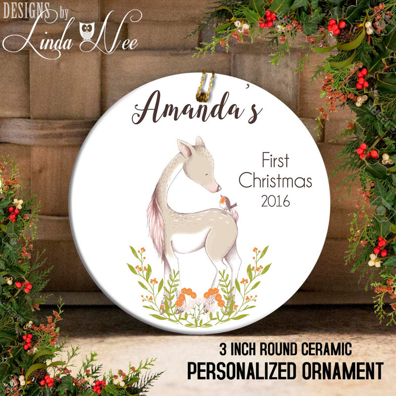 Baby's 1st Christmas Deer Personalized Ornament