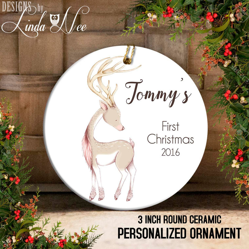 Baby's 1st Christmas Baby Deer Ornament
