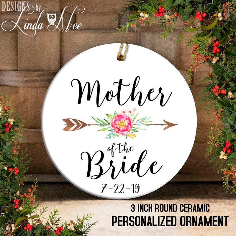 Mother of the Bride Arrow Dated Ornament
