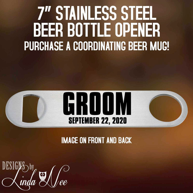 Groom Beer Bottle Opener