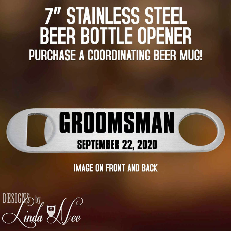 Groomsman Beer Bottle Opener