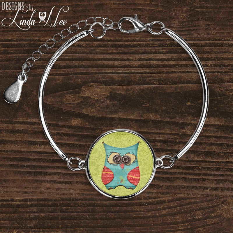 Whimsical Blue Owl Bracelet