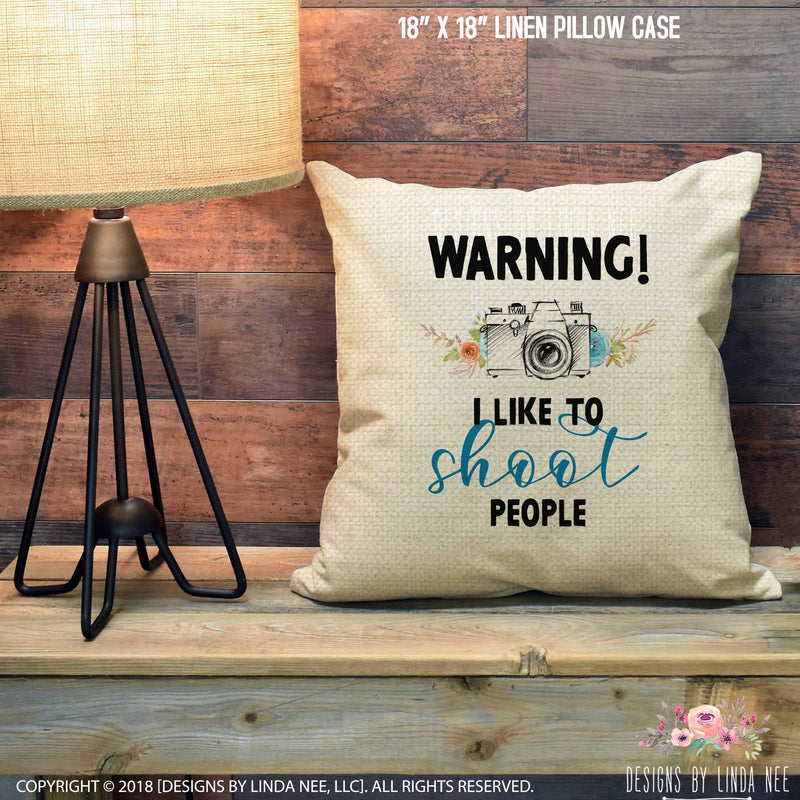 Photographer Shoot People Pillow Cover