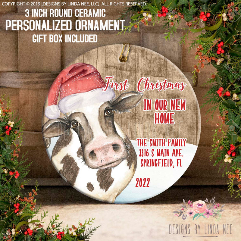 Cowbells Ring Are You Listening New Home Address Ornament