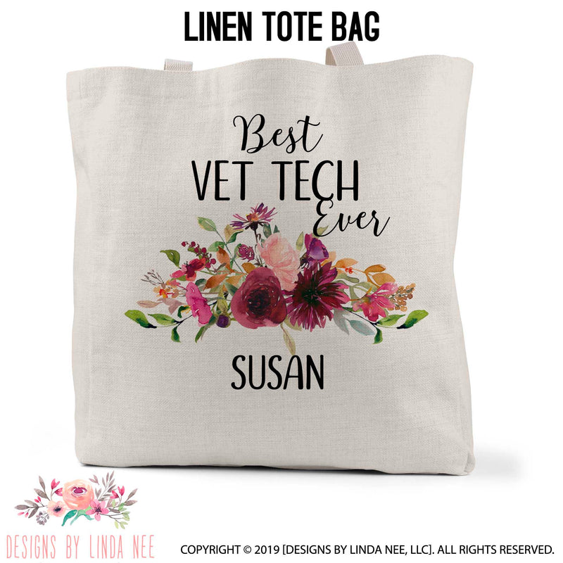 Best Vet Tech Personalized Tote Bag