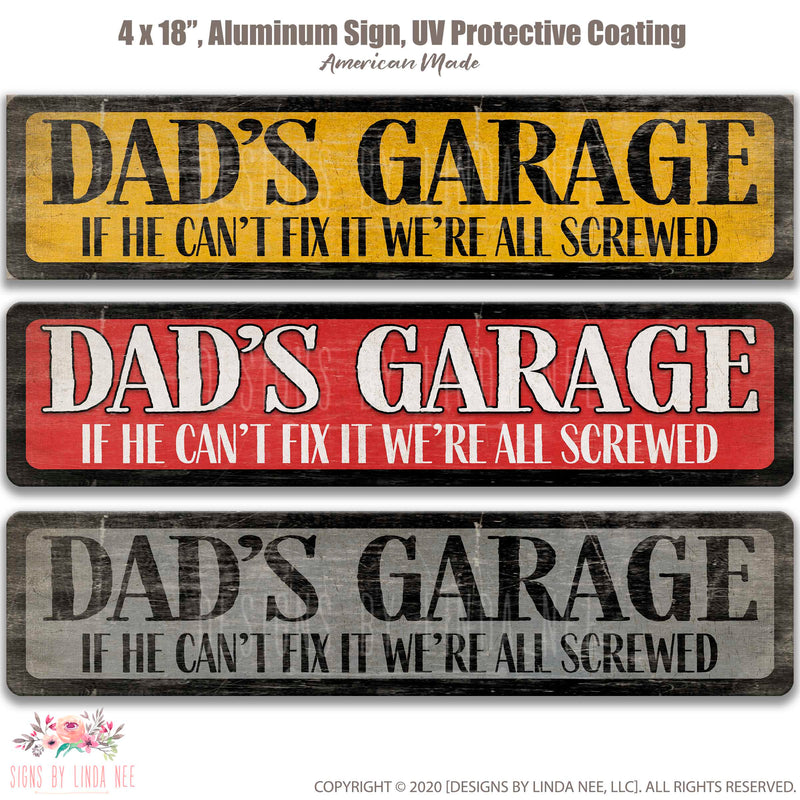 Dad's Garage Street Sign
