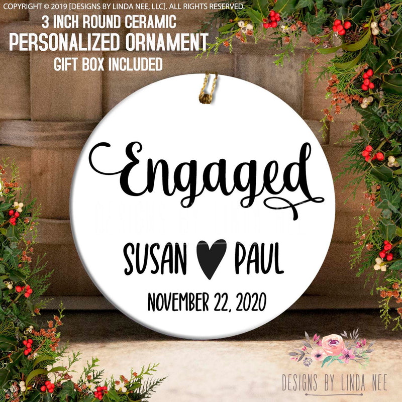 Personalized Engaged Ornament