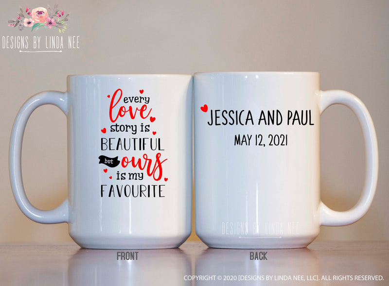Personalized Favorite Valentine Story 15oz White Mug