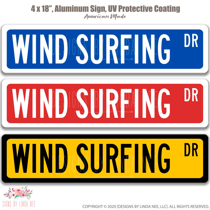 Wind Surfing Dr. on 18x4 Sign
