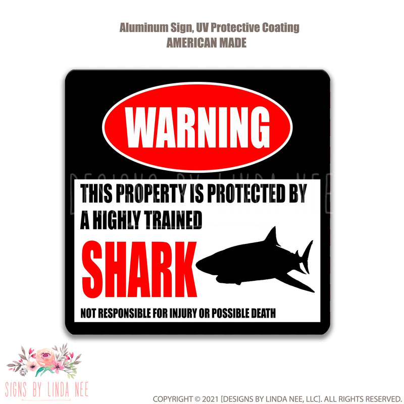 White background with font saying Warning This Property is Protected by a Highly trained Pigeon Not responsible for injury or possible death