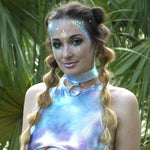 Blue Opal Dragon O-Ring Choker | MTO