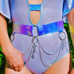 Blue Opal Crystal O-Ring Belt | MTO