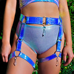Blue Opal Crystal O-Ring Garter Belt | MTO
